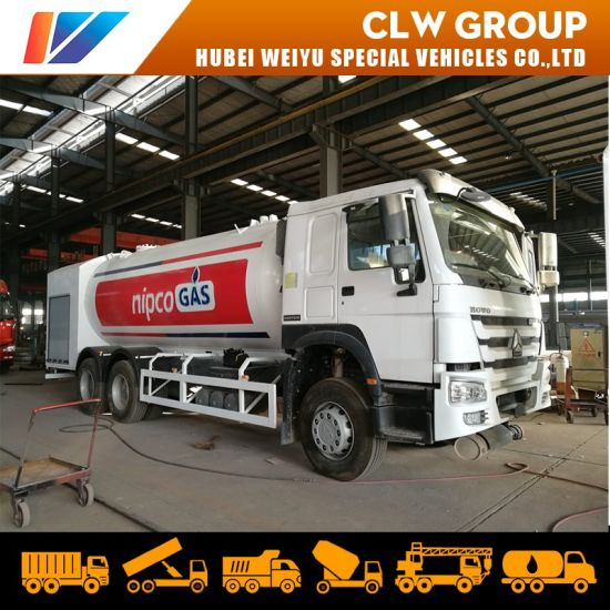 Sinotruk HOWO 20m3 10ton LPG Cooking Gas Dispenser Tanker Truck Bobtail Gas Refilling