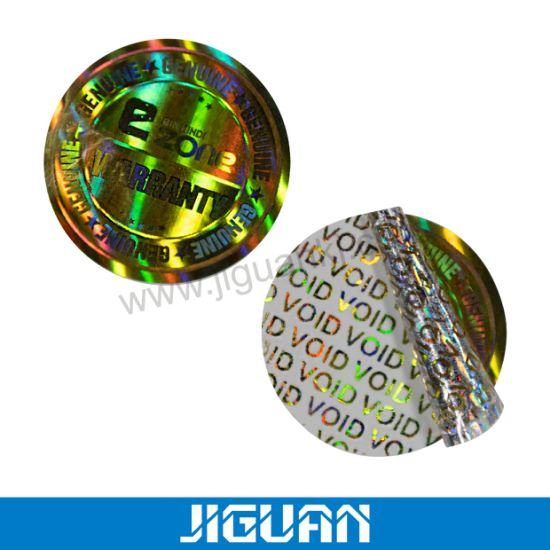 Custom 3D Laser Tamper Proof Leave Honeycomb Overlay and Void Hologram Security Label Warranty Sticker Void If Removed Sticker Holographic Void Sticker