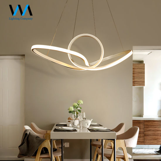 Hanging Dimmable Aluminum Chandelier LED Pendant Lamp