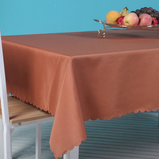 Hot Sale 75*75cm 100% Polyester Printed Party Polyester Tablecloth Wedding