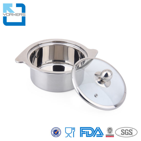 Restaurant Soup Pot Stainless Steel Mini Shabu-Shabu Hot Pot