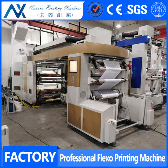 Belt Drive Stack Type 4 Colour Thermal Kraft Paper Flexographic Printing Machine