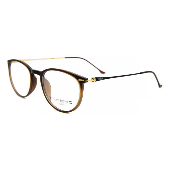 Wholesale New Fashion Style Eyewear Bright Color Metal Spectacles Tr90 Oval Optical Eyeglasses Frames