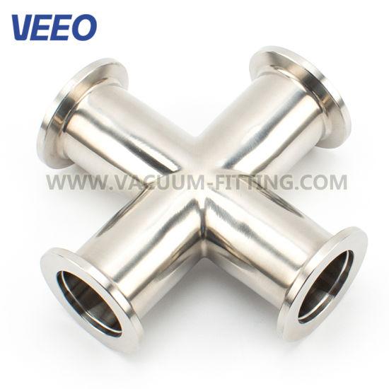 Vacuum Stainless Steel Fittings Nw ISO-Kf Mirror 4-Way Crosses