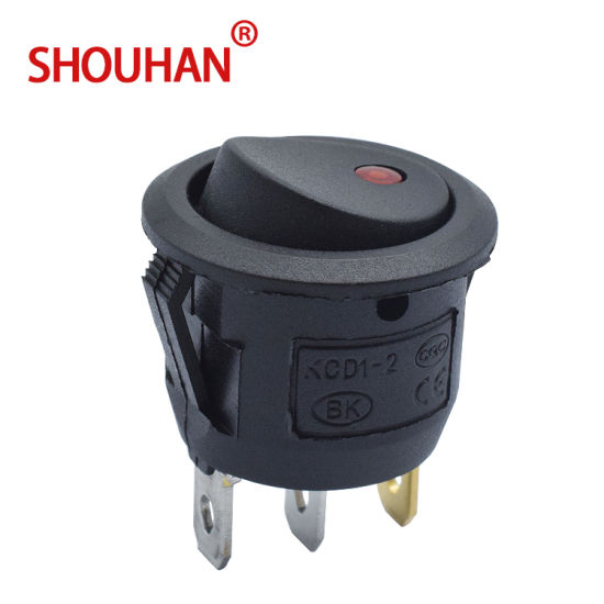 Kcd1 10A on-off Rocker Switch 3 Pin Kcd1-105-3p with Lamp