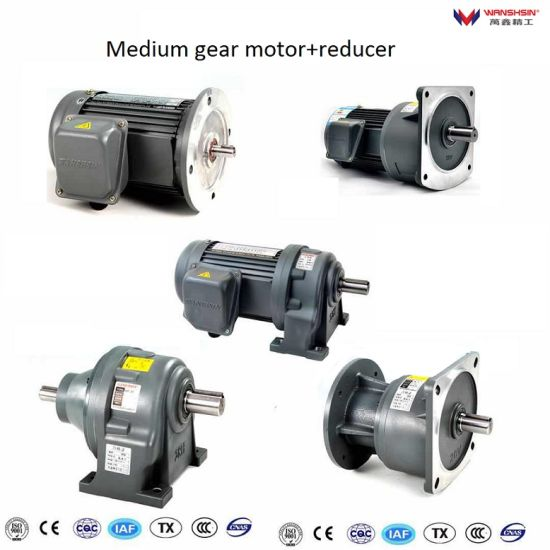Chinese Manufacturer Three Phase Asynchronous Gear Motor Gear Decelerator pictures & photos