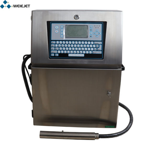Cij Continuous Small Character Inkjet Marking/Coding Printer for Product Day Printing/Water Bottle/Carton Boxes/PVC/Battery Machine