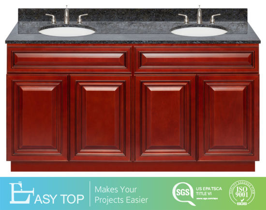 Chinese Hotel Single Double Wood MFC Mirror Cabinet Modernvanity Bathroom Cabinet
