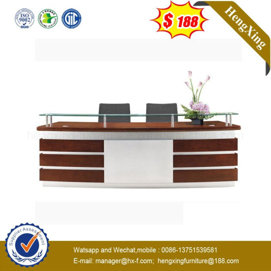 ISO9001 Promotion Special European Design Fashion Wooden Bank Desk (HX-RT516)