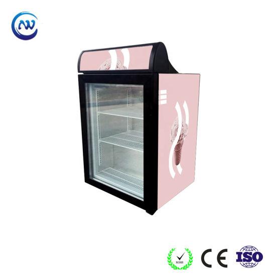 Mini Counter Display Cooler Freezer Refrigerator Showcase for Ice Cream (SD98)