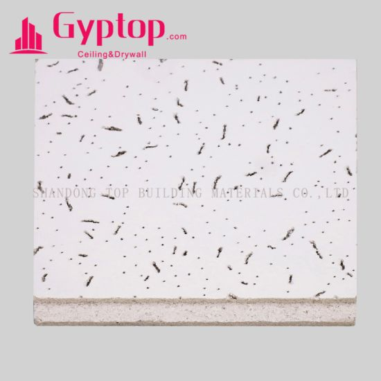 China Armstrong Mineral Fiber Ceiling Tiles Fine Fissured
