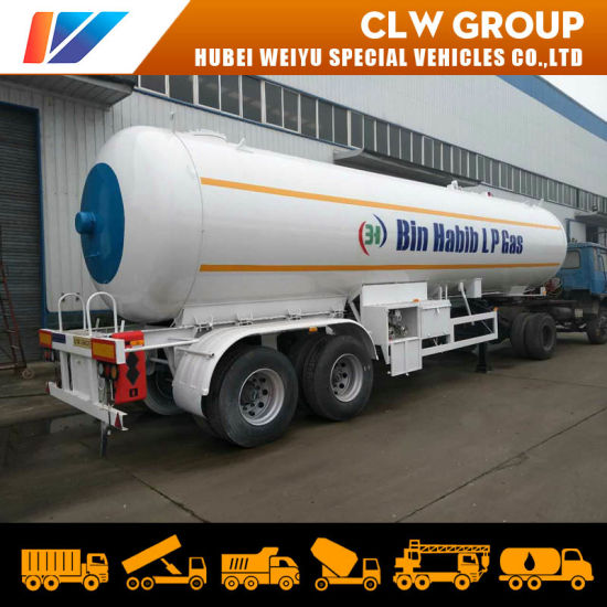 2 Axle 40cbm/20ton LPG Tanker Semi Trailer for Propane Liquid Transportation