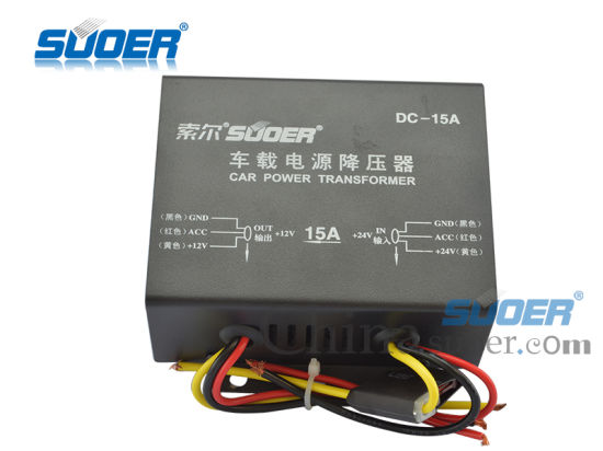 Suoer Step Down Transformer 15A Car Voltage Transformer with CE RoHS (DC-15A) pictures & photos