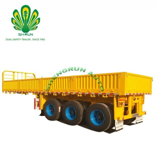 3/4 Axle Heavy Duty 40 FT Container Lock Side Wall Cargo Truck