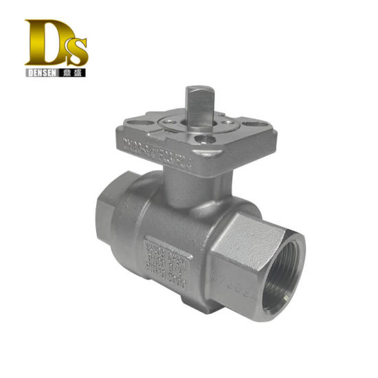 Densen Customized Stainless Steel 316 Silicon Sol Casting and Machining 2 PC Ball Valve Body, Check Valve Body