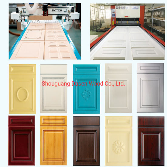 China Shaker Design Pvc Film Thermo Foil Mdf Kitchen Cabinet Door China Pvc Cabinet Door Pvc Thermofoil Door