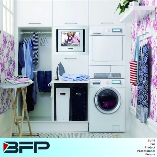 Customized Built In Laundry Cabinet