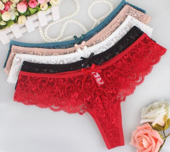 6090711dfb4 China Lady Sexy Lace T-Back Transparent Sexy Underwear Panties and G ...