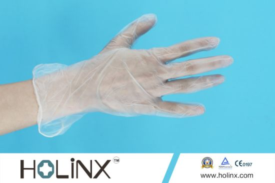 Powder Disposable Vinyl Glove/PVC Gloves for Medical Use pictures & photos