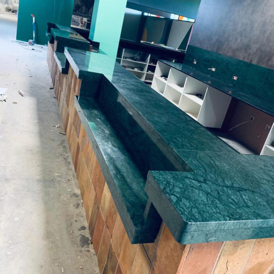 Chinese Green Natural Granite Marble Stone Kitchen Countertops with Custom Design