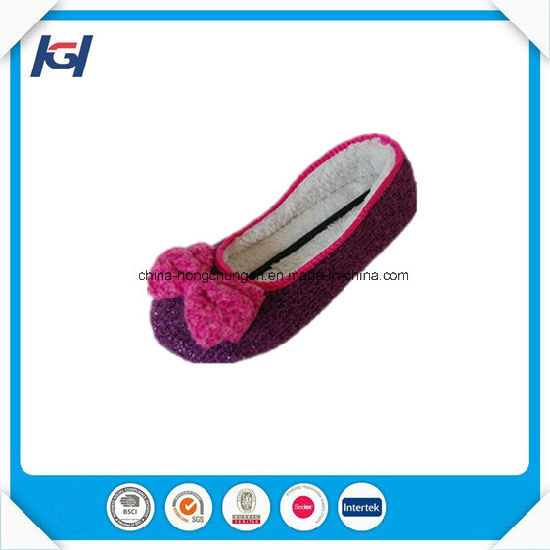 Warm Soft Sole Knitted Ballet Slippers Wholesale for Lady pictures & photos