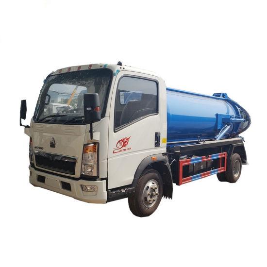HOWO 4X2 Used Vacumn Sewage Suction Tank Truck