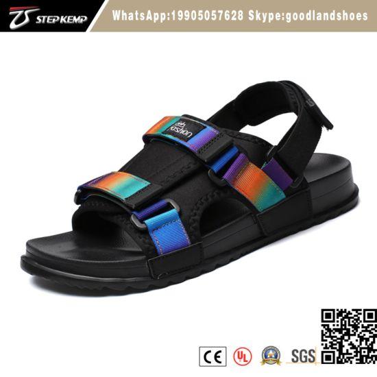 Fashion Black Casual Straps Beach Sport Sandals Shoes Summer Men's Beach Sandals Shoes 5008