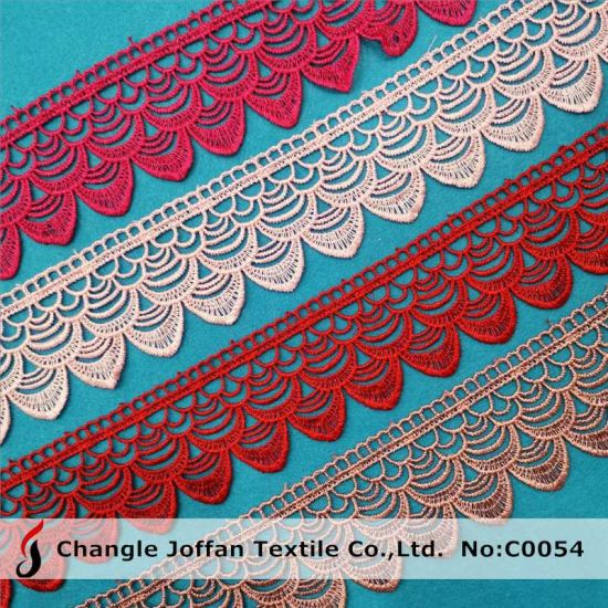 Water Soluble Polyester Trimming Lace Embroidery Lace for Dresses (C0054)