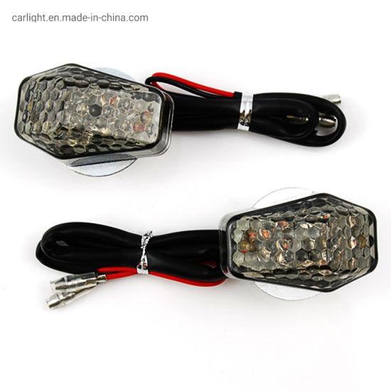 4pcs Motorcycle Motorbike Smoke Lens 14-LED Turn Signal Indicator Light Amber