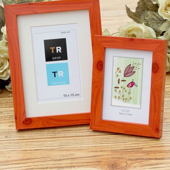 Big Size Wooden Grain MDF Picture Frame with Paper Card