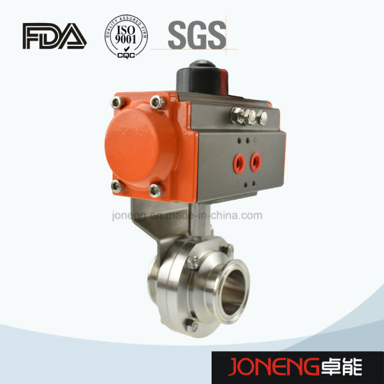 China Stainless Steel Pneumatic & Manual Food Grade & Hygienic Sanitary Ball & Diaphragm & Butterfly Control Valve (JN-1006) pictures & photos