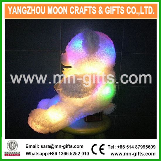 LED Holding Love Pillow Plush Bear Toys For Sale Light Up