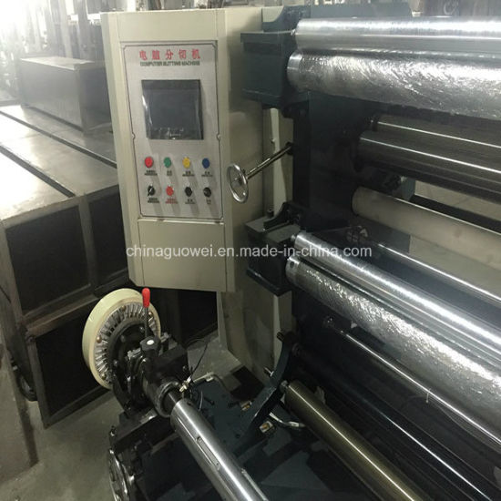 PLC Controlled Slitting and Rewinding Machine for Plastic Film pictures & photos