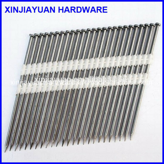 3.05*90mm Painted Screw Shank Plastic Strip Framing Nail pictures & photos