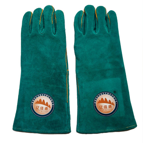 16 Inch Cow Split Leather Hand Protective Gloves for Welding pictures & photos