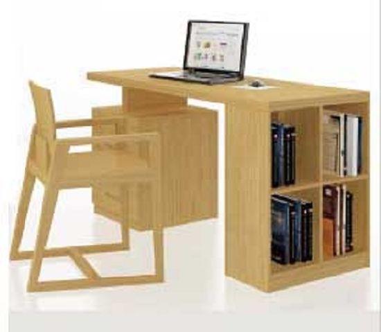 Modern Style Bamboo Office Chair Office Desk Set