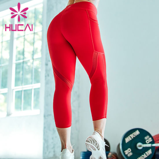Custom Fashion Leggings Women Fitness Yoga Leggings with High Waist