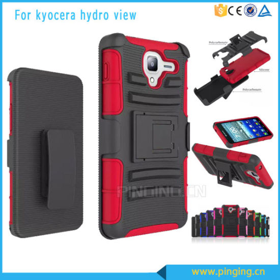 PC+Silicone Cell Phone Case for Kyocera Hydro View C6742 pictures & photos