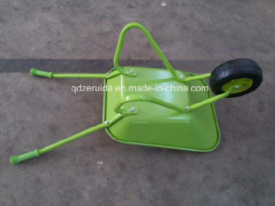 Hot Selling Kids Plastic Toy Kids Wheelbarrow (WB0605P) pictures & photos