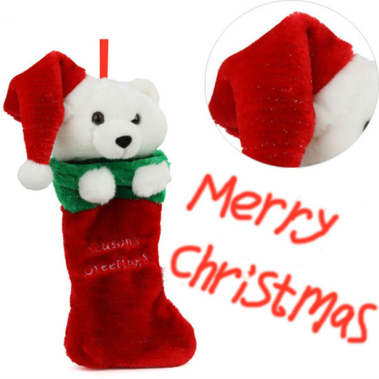 2020 New Style Cute Christmas Decoration Stocking-J004 pictures & photos