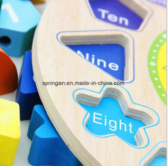 Wooden Intellectual Puzzle Toys Clock 3D pictures & photos