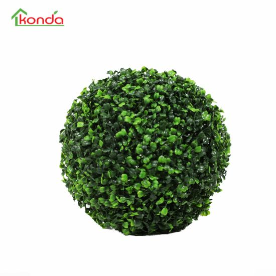 Hanging Green Artificial Topiary Grass Ball for Decoration Indoor Outdoor