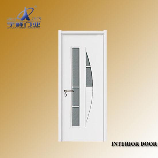 China Veneer Wooden Flush Doors With Glass China Wooden Door