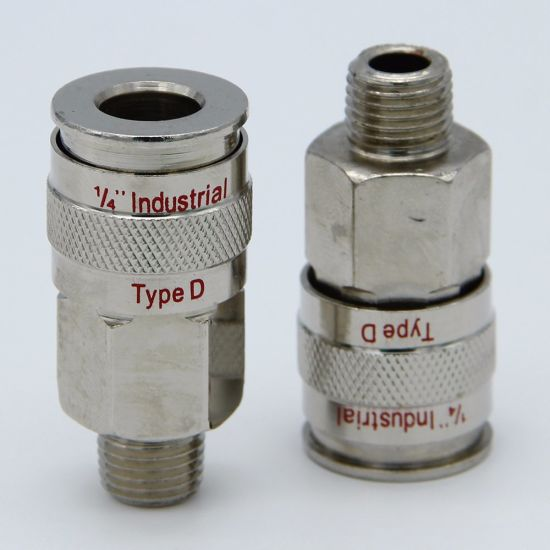 1/4 NPT Air Fittings 3 Piece Industrial Type Quick Connect WYNNsky