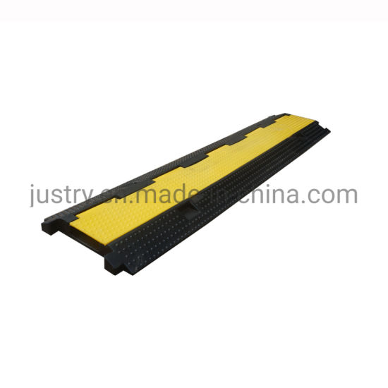 Safety Rubber 1 Channel Cable Cover Protector with Plastic Lid