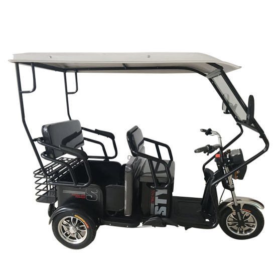 Hot Sale 3 Seat Passenger Electric Three Wheel Adult Bike Tricycle with Roof pictures & photos