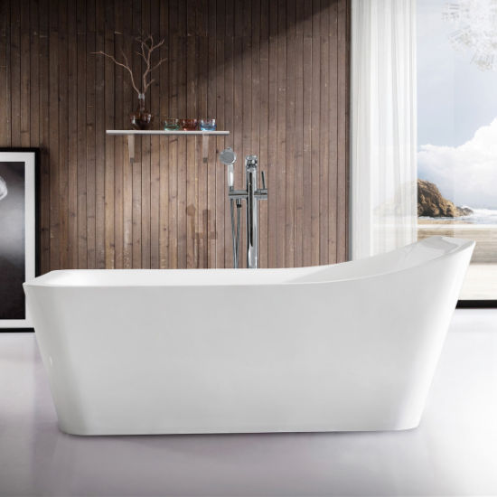 "63""Freestanding White Bath Tub Acrylic SPA Soaking Bathtub (2035) pictures & photos"