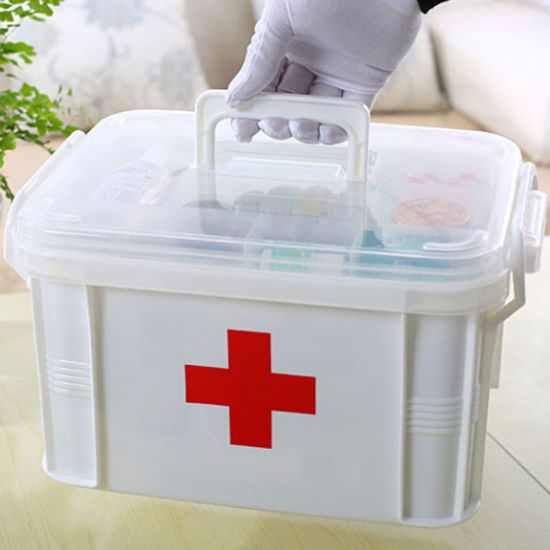 Custom Plastic Household Medicine Cabinet Medical Box First Aid Crates