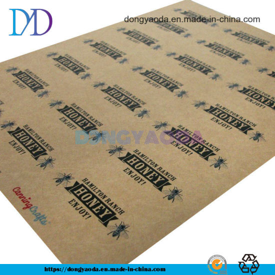 High Quality Self Adhesive Waterproof Matthe Sticker Kraft Paper for Food