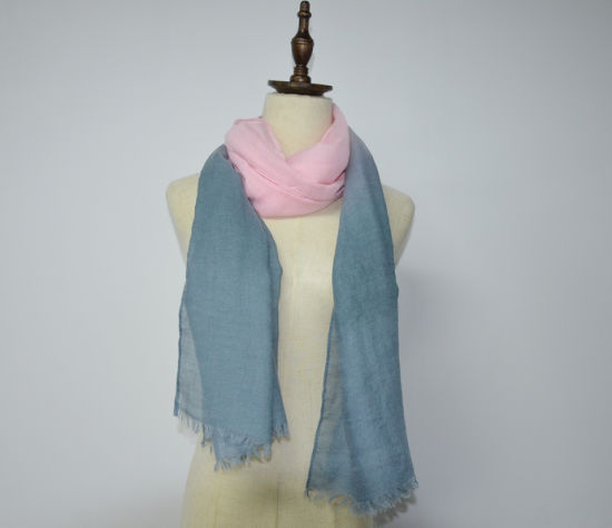 BSCI Urban Leisure Soft Gradient Color Polyester Scarf Shawl pictures & photos